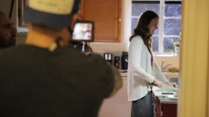 Stefanie Estes on set of BETHANY